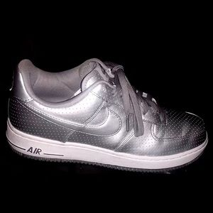 Platinum Nike Air Force Ones